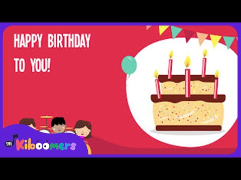 Happy Birthday Song | Happy Birthday To You Dance | Lyric Video | The Kiboomers