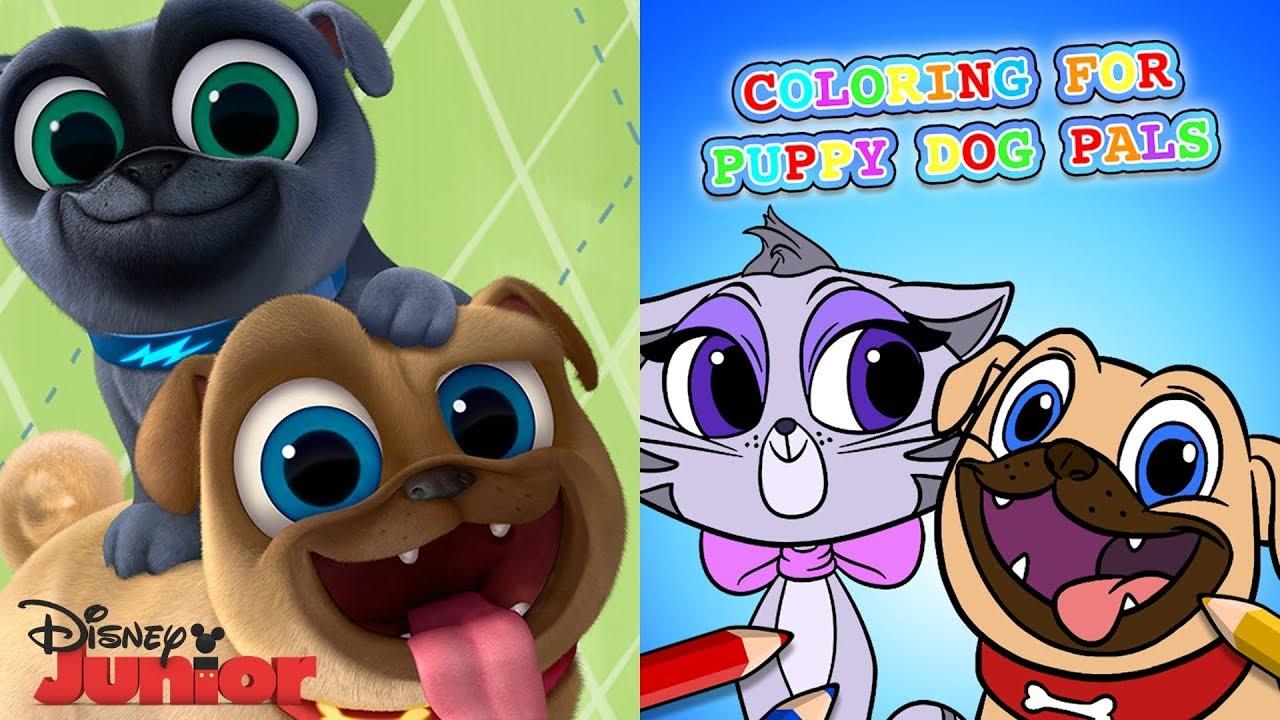 Puppy Dog Pals. Libro De Colorear Virtual