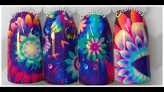 Pretty Flower Nail Design Lady Queen Water Decal Qj-197 Review