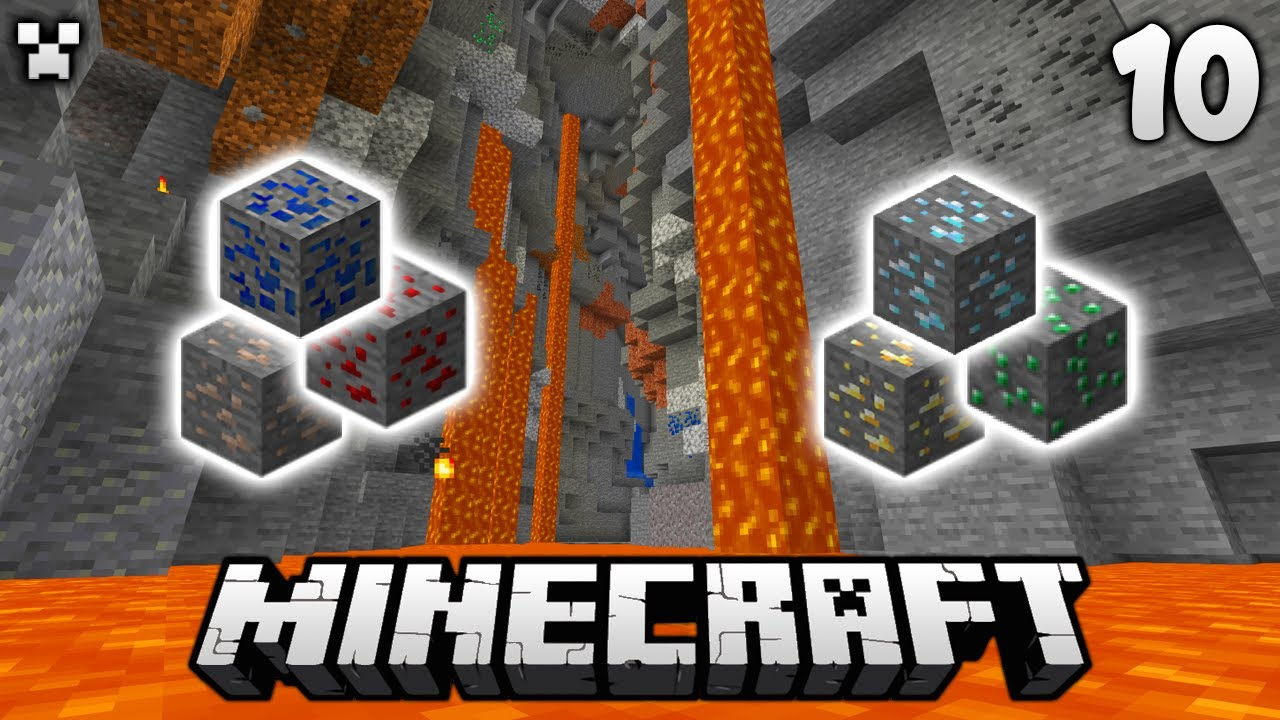 SILKY Caving! | Let's Play Minecraft Survival Ep.10