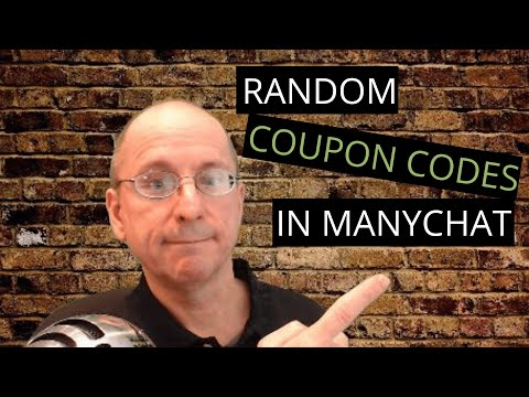 How to serve up random unique coupon codes to your ManyChat Subscribers