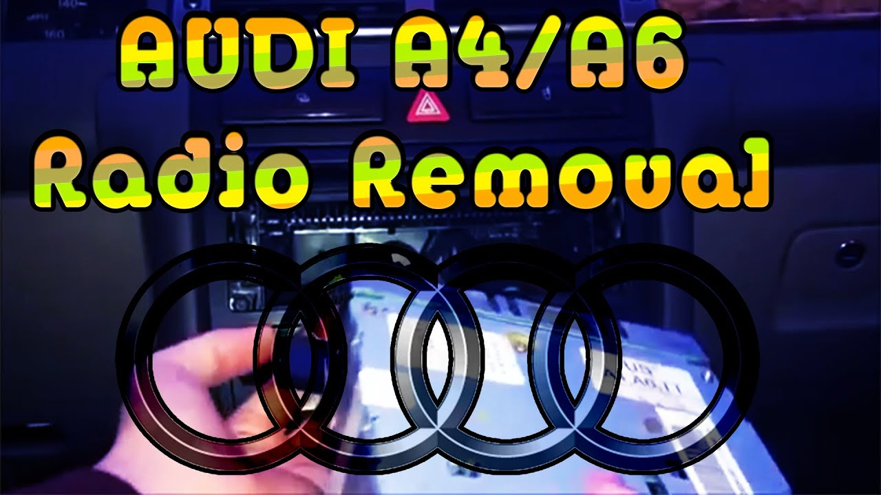 How to replace radio on an 98 03 audi a4a6 tt youtube cheapraybanclubmaster Choice Image