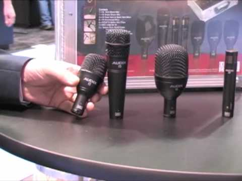 Audix Fusion Drum Microphones Winter NAMM 2010 Demo