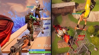 FUNNY SHOPPING CART RAMP FAIL IN BLITZ v2 SQUAD VICTORY! Fortnite Battle Royale Gameplay Ep. 23