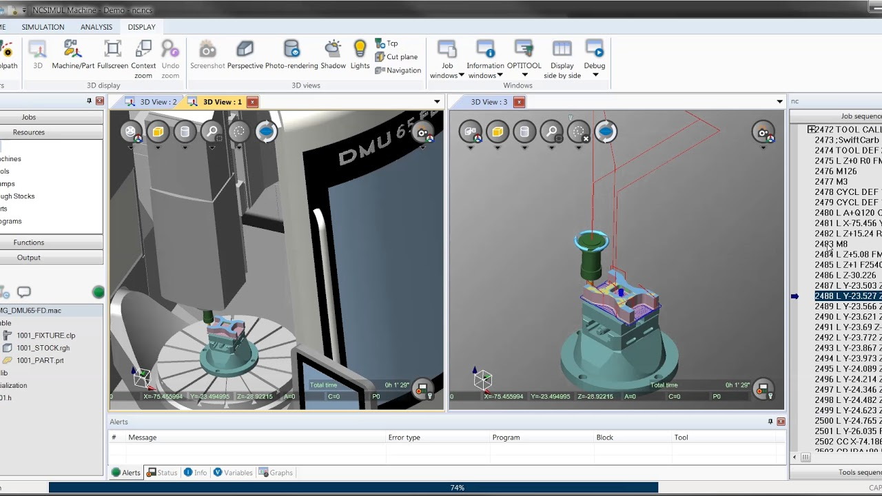 Short video showing the link between Fusion 360, Inventor HSM, HSMWorks and  NCSIMUL
