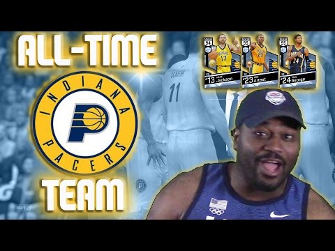 All-Time Indiana Pacers - Diamond Paul George and Ron Artest - NBA 2K17 MyTeam Gameplay