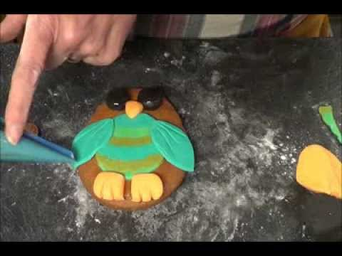 How to decorate owl gingerbread cookies free tutorial