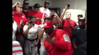 Ohio State Buckeyes Coach doing The Whip after win over Alabama