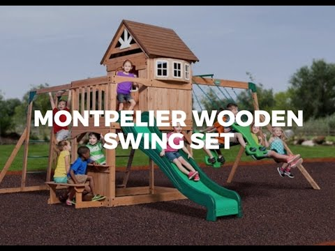 Montpelier Wooden Swing Set for Kids from Parasol Outdoor Fruniture Dubai - Montpelier Wooden Swing Set For Kids From Parasol Outdoor Fruniture