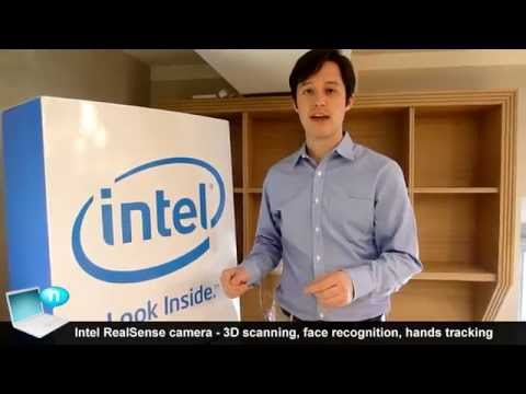 Intel RealSense camera - 3D scanning, face recognition, hands tracking