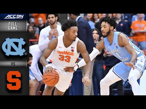 North Carolina Vs, Syracuse Full Game | 2019-20 ACC Men's Basketball