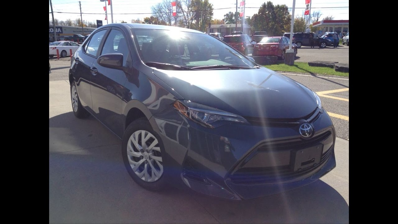 New 2017 Toyota Corolla Le Review Slate With Black Interior 1000 Islands Brockville