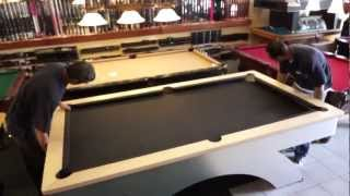 Pool Table Installation: Step 6 - The Felt
