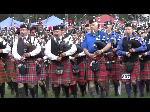 Canmore Highland Games Massed Band 2017