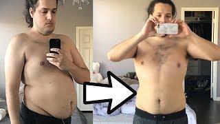 Weight Loss Transformation Progress October - November 2017