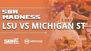LSU vs Michigan St NCAAB Picks ATS | Sweet 16 Betting Tips | College Basketball Picks
