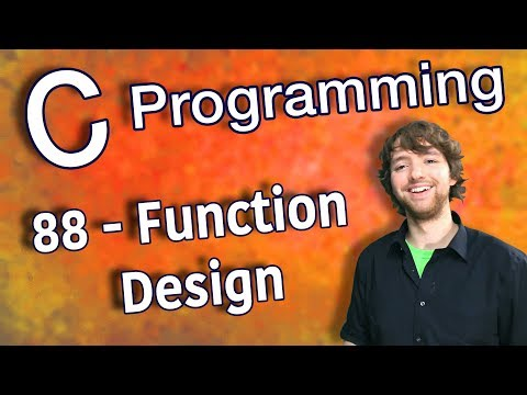 C Programming Tutorial 88 - Function Design thumbnail