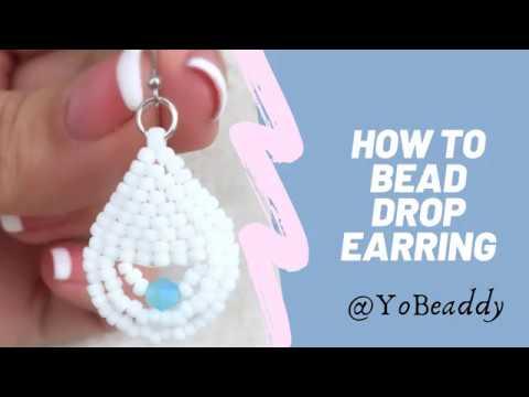 DIY Beaded Drop Earrings || Brick stitch sead bead earrings || TOHO beads DIY earrings tutorial