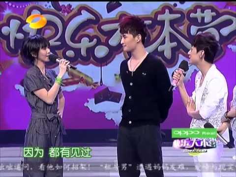 """快乐大本营 Happy Camp - 黄雅莉现场动情""""表白""""燕姿【20110409】"""