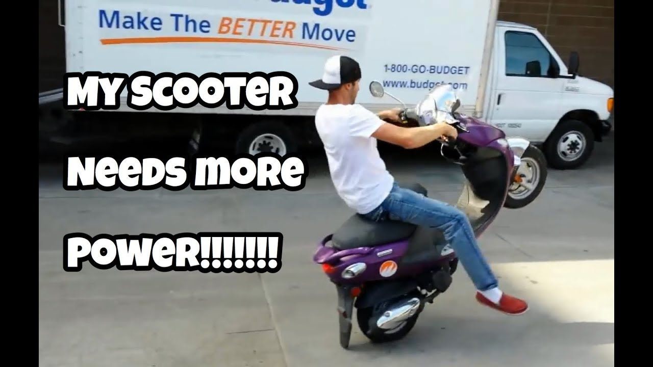 buddy scooter 161cc stage one kit wheelie scooter youtube. Black Bedroom Furniture Sets. Home Design Ideas