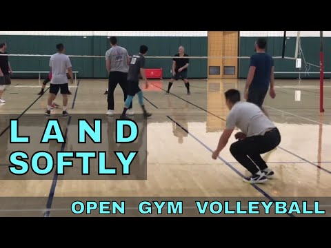 LAND SOFTLY - Open Gym Volleyball highlights (1/25/18) PART 2