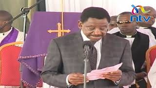 Senator Orengo reads Raila Odinga's message to Charles Rubia in Murang'a county