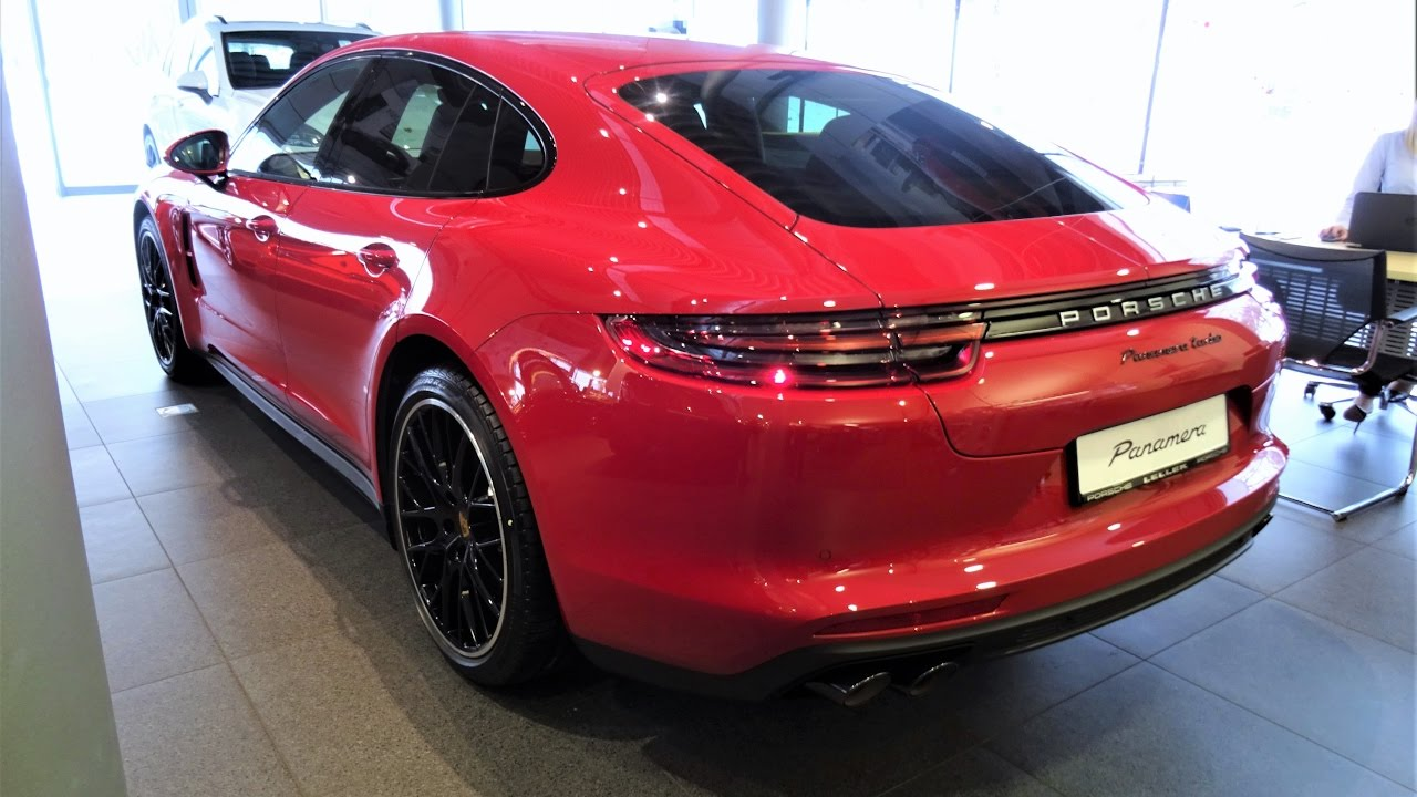 ALL NEW RED PORSCHE PANAMERA TURBO 2017 Katowice