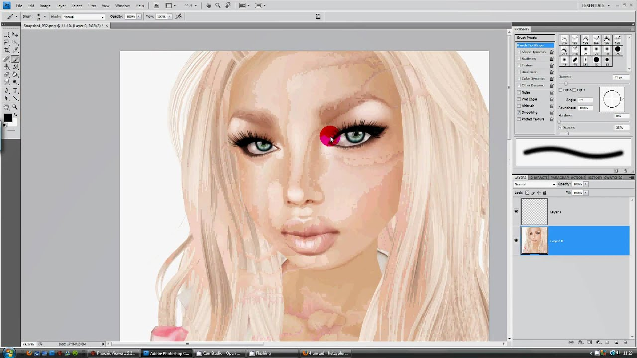 Second Life Photography Tutorial - Lashes and hair - YouTube