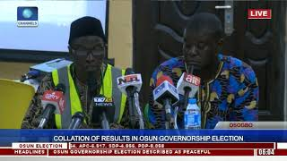 Collation Of Results In Osun Governorship Election Pt.17  Osun Decides 