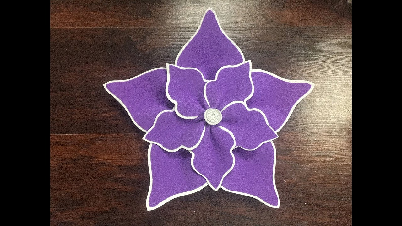 DIY: How to make this Beautiful Foam Flower / Como hacer una hermosa flor en foami