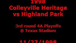 1998 Colleyville Heritage vs Highland Park at Texas Stadium with Radio Audio