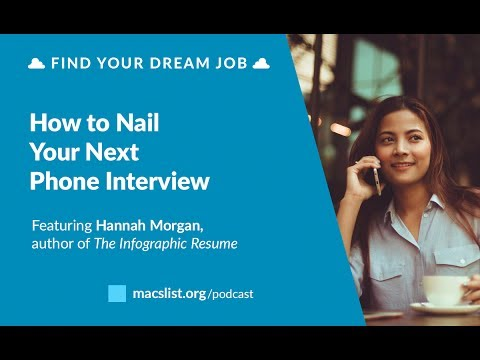 Ep. 055: How to Nail Your Next Phone Interview, with Hannah Morgan