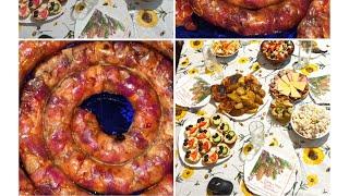 Домашние колбасы, сыры