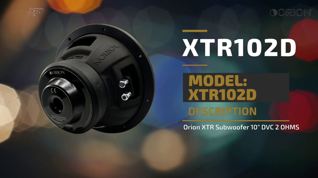 Orion Xtr102d Subwoofer Youtube Xtr Wiring