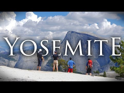 Yosemite National Park in 4K | Bushcraft Backpacking, Hiking, and Camping at North Dome/Upper Falls