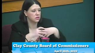 B160426A -04/26/16 - Clay County MN Board of Commissioners