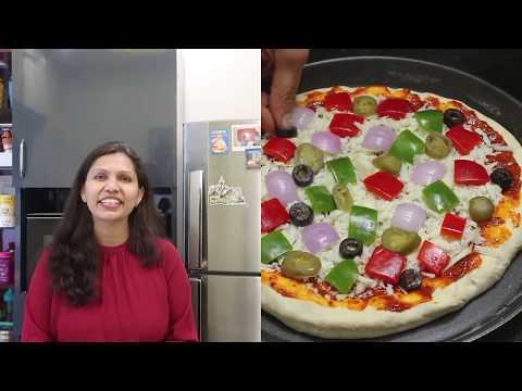 डोमिनोज़ जैसा चीज़ बर्स्ट पिज़्ज़ा | Cheese Burst Pizza Recipe | KabitasKitchen
