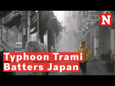 Three Million Urged To Evacuate As Typhoon Trami Batters Mainland Japan