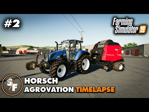 FS19 Horsch AgroVation Timelapse #2 Baling Straw, Harvesting Wheat