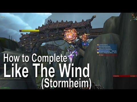 WoW Legion World Quests - Like The Wind (Stormheim)