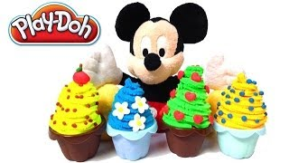 Mickey Mouse Playdough Food Play-doh Ice Creams Playdough Confections Cupcakes Muffins