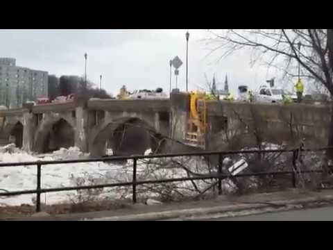 Susquehanna River Ice Push in West Pittston, PA
