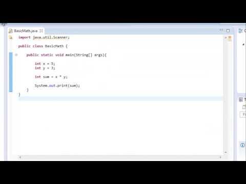 Java Programming: 5 - Basic Math