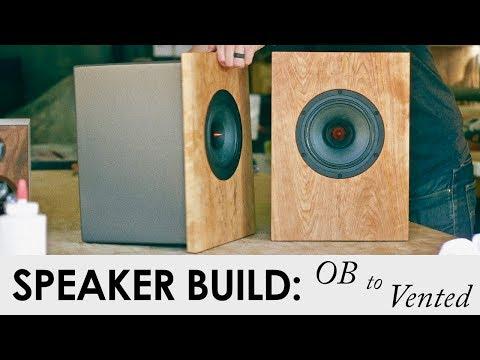DIY SPEAKER BUILD || Open Baffle to a Vented Enclosure