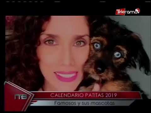Calendario Patitas 2019 Famosos y sus mascotas