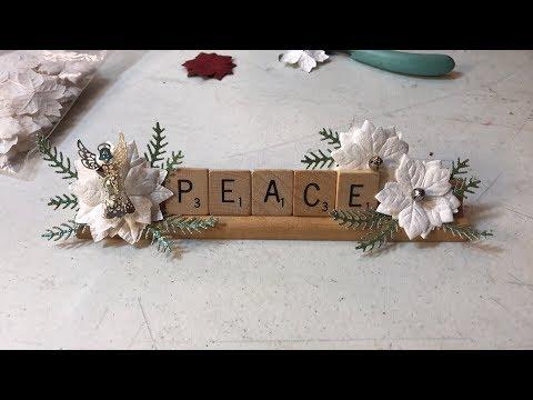 Scrabble tile Christmas decor