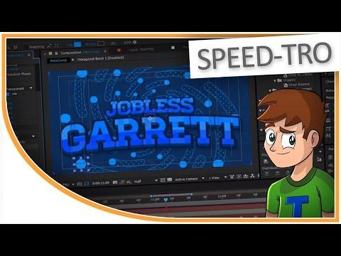 [SPEED-TRO] @JoblessGarrett's 2D Animated YouTube Intro - SpeedArt/Speed-Design - After Effects