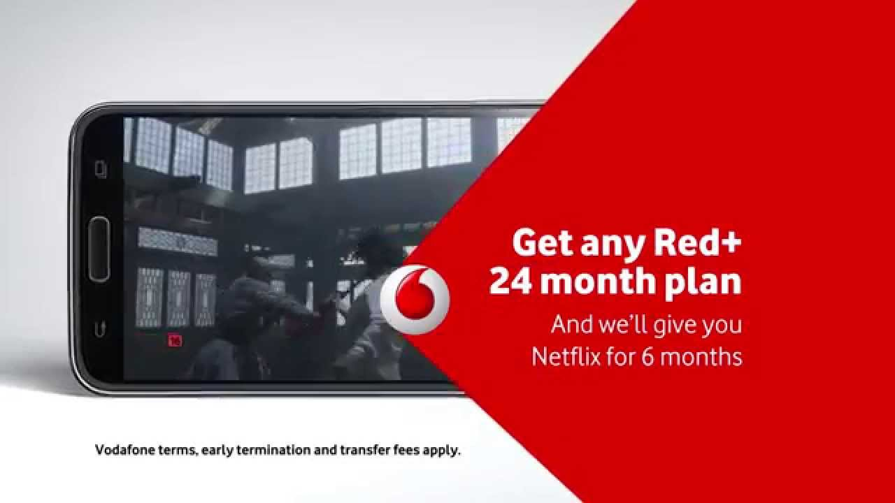 Enjoy Netflix from Vodafone