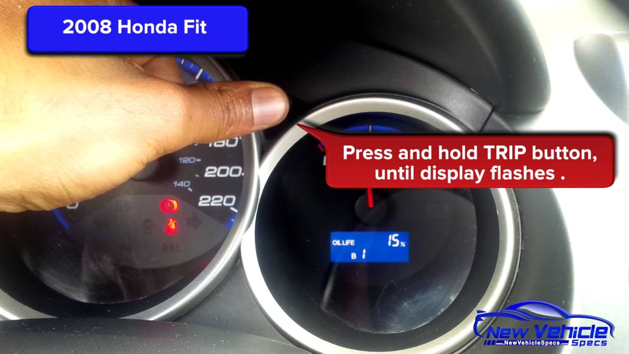 2008 Honda Fit Oil Light Reset Service Light Reset Youtube