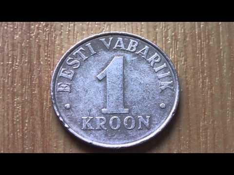 1 Kroon coin - Eesti Vabariik in HD